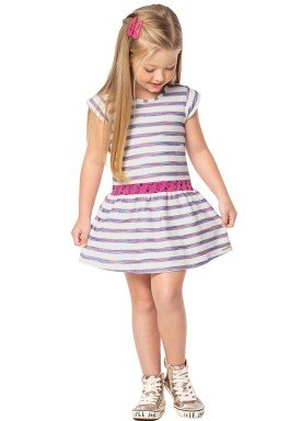 vestido infantil feminino listrado offwhite marlan 44626 1