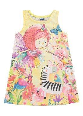 vestido infantil feminino nature amarelo marlan 42423
