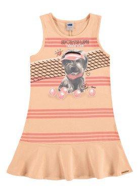 vestido infantil feminino sports laranja marlan 44633
