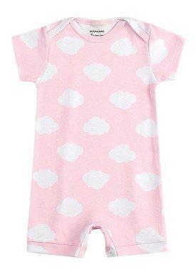 macaquinho suedine bebe feminino nuvens rosa kamylus 1004