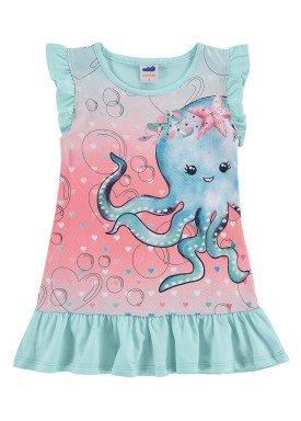 vestido infantil feminino polvo azul marlan 42442
