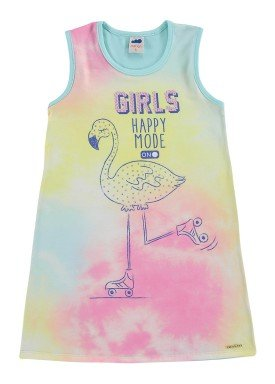 vestido infantil feminino happy mode azul marlan 44646