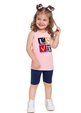 conjunto infantil feminino love rosa brandili 24208 1