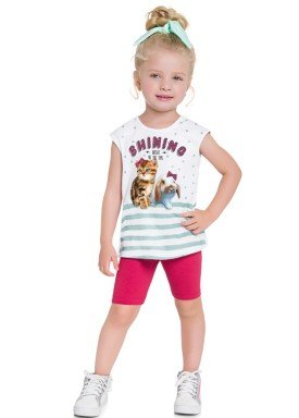 conjunto infantil feminino shining branco brandili 24205 1