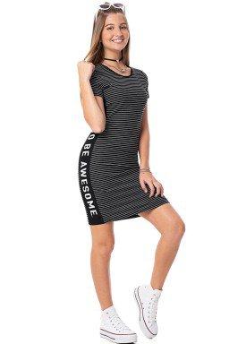 vestido juvenil feminino awesome preto rezzato 30724 1