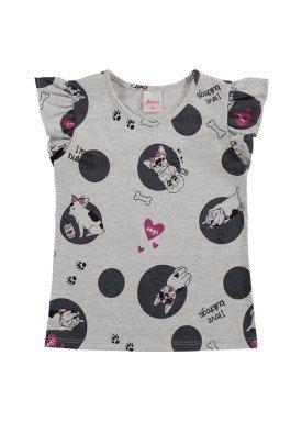 blusa infantil feminina bulldogs mescla alenice 44348
