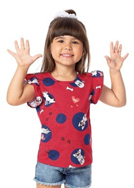 blusa infantil feminina bulldogs vermelho alenice 44348 1