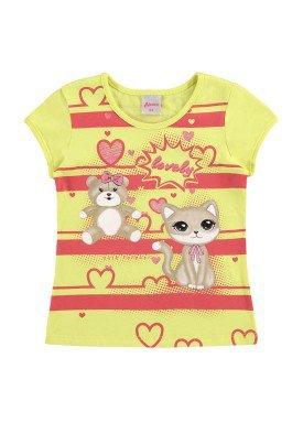 blusa infantil feminina lovely amarelo alenice 44360 1