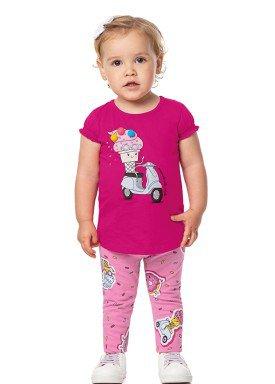 conjunto bebe feminino sorvete pink alenice 41036 1