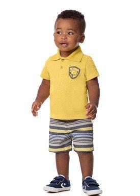 conjunto bebe masculino dog amarelo alenice 41010 1