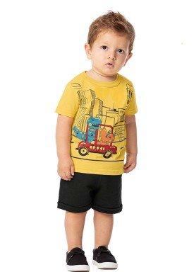 conjunto bebe masculino taxi amarelo alenice 40987 1