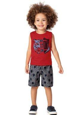 conjunto infantil masculino wild vermelho alenice 44313 1