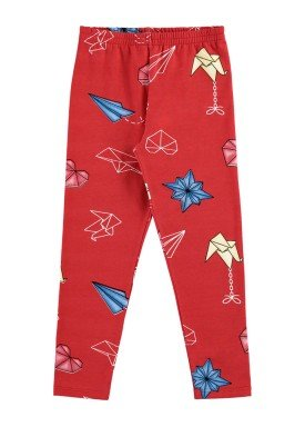 legging infantil feminina estampada vermelho alenice 44346