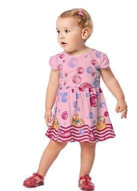 vestido bebe feminino patinhos rosa alenice 41033 1