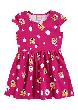 vestido infantil feminino hello pink alenice 44350