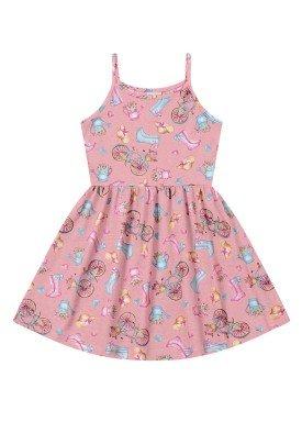 vestido infantil feminino garden rosa forfun 2127