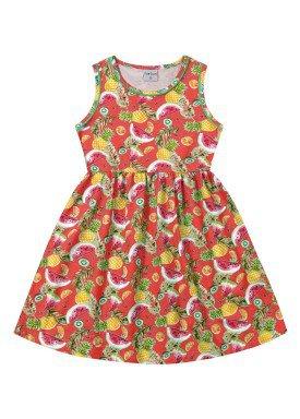 vestido infantil feminino frutas vermelho forfun 2128