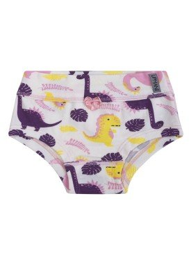 calcinha infantil feminina dinos branco upman mini 464be