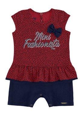 macaquinho bebe feminino fashionista vermelho alakazoo 39539
