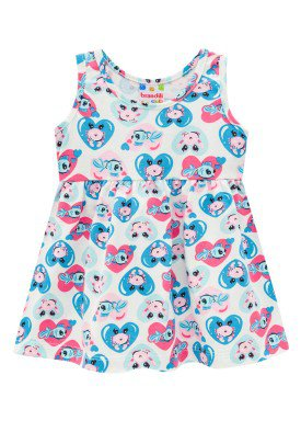 vestido bebe feminino love sea natural brandili 34291