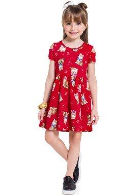 vestido infantil feminino cats vermelho brandili 34226 1