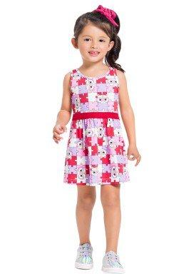 vestido infantil feminino quebra cabeca vermelho brandili 34189 1