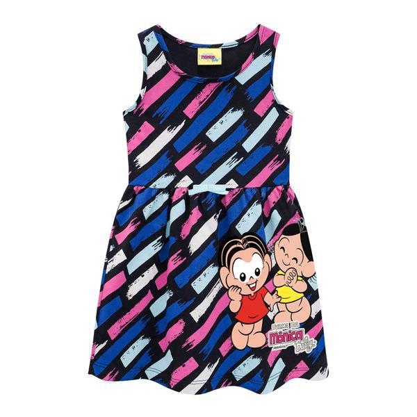 vestido infantil feminino turma da monica preto brandili 34532