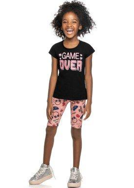 conjunto infantil feminino game over preto elian 251358 1