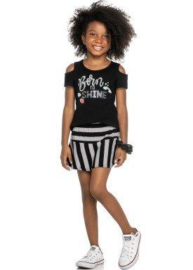 conjunto infantil feminino shine preto elian 251360 1