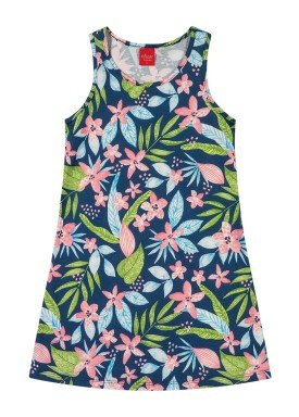 vestido infantil feminino nature marinho elian 251349