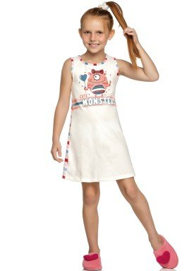 camisola infantil feminina cute monster natural elian 13010 1