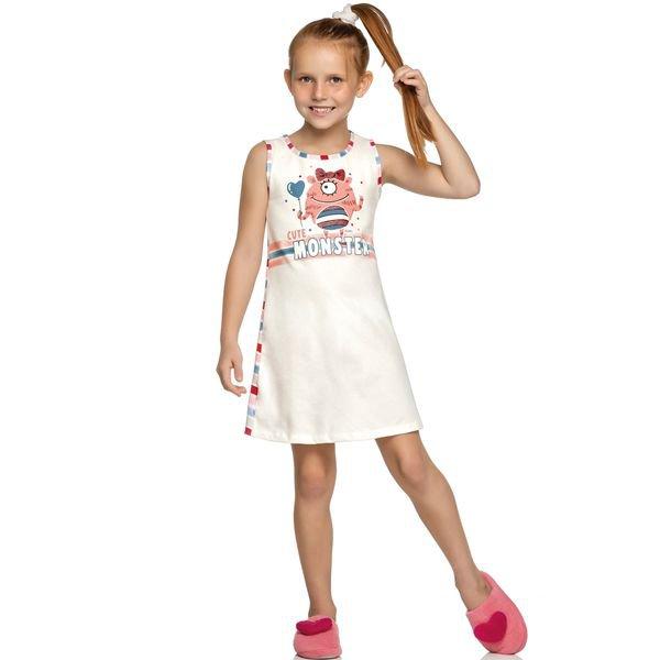 camisola infantil feminina cute monster natural elian 13010 1