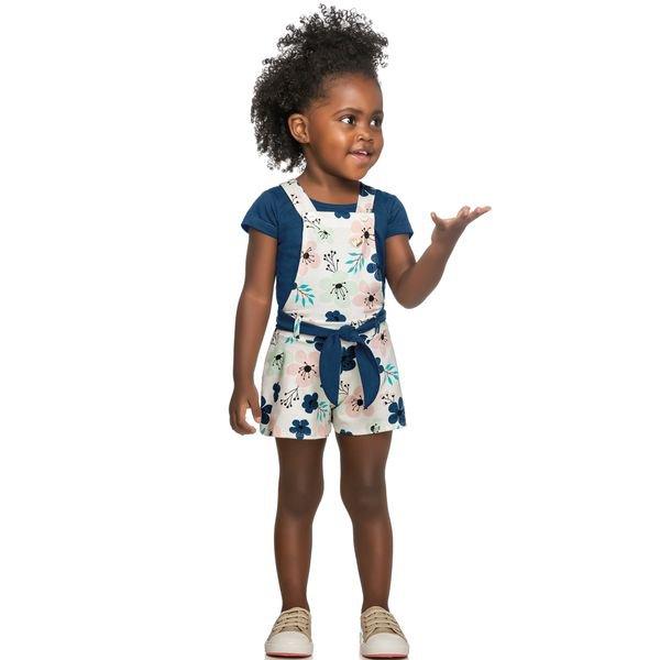 conjunto infantil feminino flores marinho elian 231387 1