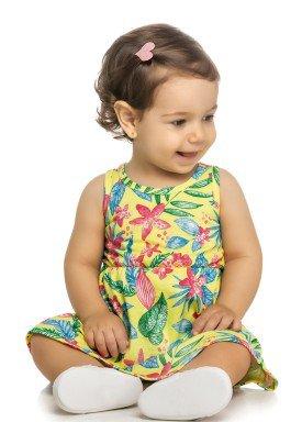 vestido bebe feminino floral amarelo elian 211074 1