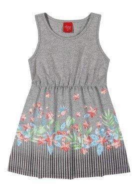 vestido infantil feminino flores mescla elian 231400