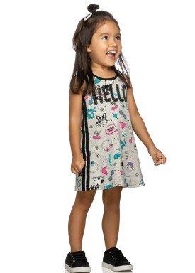 vestido infantil feminino hello mescla elian 231382 1
