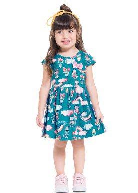 vestido infantil feminino flores azul brandili 34185 1
