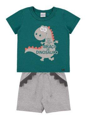 conjunto bebe masculino dinossauro verde alenice 41008 1