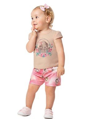 conjunto infantil feminino puppy pessego alenice 41038 1