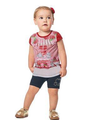 conjunto infantil feminino friends vermelho alenice 41035 1