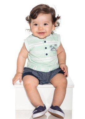 macacao banho de sol bebe menino denim verde paraiso 9731 1