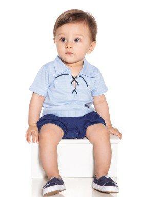 macacao meia manga bebe masculino west coast azul paraiso 9717 1