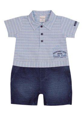macacao meia manga bebe masculino south cali azul paraiso 9712