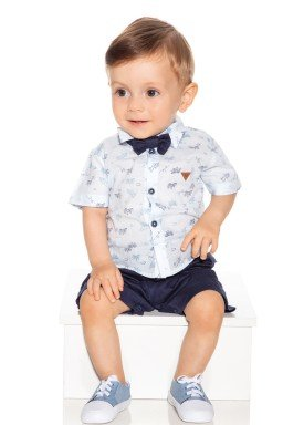 macacao meia manga bebe masculino avioes marinho paraiso 9713 1