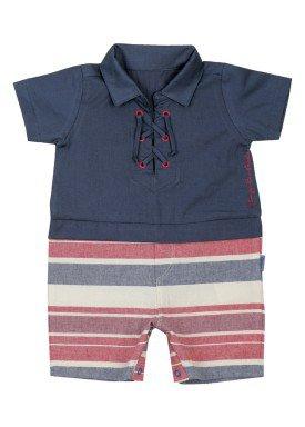 macacao meia manga bebe masculino azul paraiso 8880