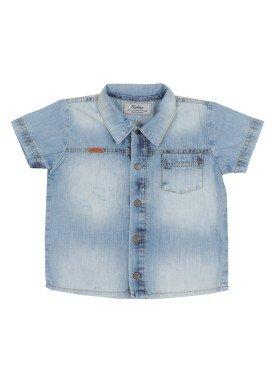 camisa jeans bebe masculina azul paraiso 7656