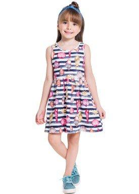 vestido infantil feminino conchas marinho brandili 34227 1