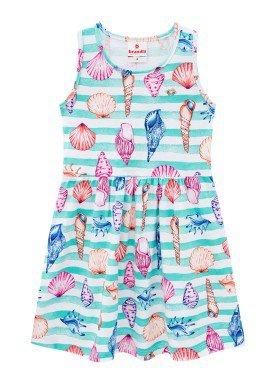 vestido infantil feminino conchas verde brandili 34227