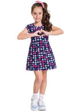 vestido infantil feminino coracoes marinho brandili 34299 1