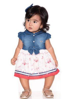 macacao meia manga bebe menina denim pink paraiso 10573 1
